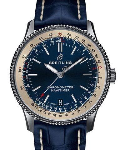 Breitling Navitimer 1 A17325211C1P1 - Orologio automatico da uomo con quadrante blu 38