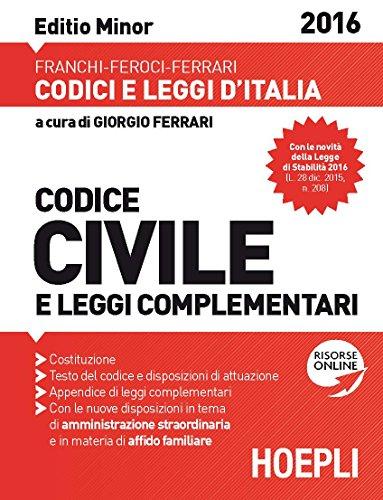 Codice civile e leggi complementari. Ediz. minore