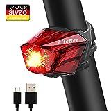 LIFEBEE LED Rücklicht Fahrradlicht StVZO Zugelassen USB Wiederaufladbare LED Fahrradbeleuchtung, Fahrradlichter Set1