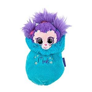 Ylvi & die Minimoonis - Peluche Mooli con Saco de Dormir de 19 cm, Color Turquesa y púrpura (6123.003)