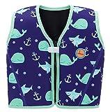 Swimbubs Kinderschwimm Jacke Schwimmen Schwimmweste für Kinder Kleinkinder Auftriebskörper (1-3 Jahre, Blue Whale)