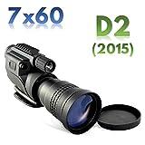 7x60 PROFESSIONAL NACHTSICHT DIGITAL MONOKULAR SCOPE & FARBEN KAMERA - Verbesserte Generation 2 vergleichbare Bildqualität - Tages- und Nachtbetrieb - automatische IR-Beleuchtungsstrahl - Fotografie und Video auf SD-Karte, Video Out für den Arbeitsplatz oder Überwachungssysteme Aufnahme, Stativanschluss & Zubehörschiene, Koffer, Super Zoom 7x - RONGLAND NV760D