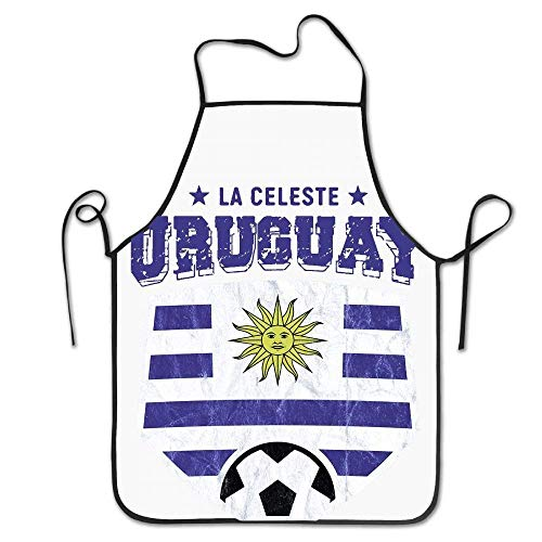 SPHGdiy 2018 Uruguay Soccer Flag Team Jersey Kitchen Overlock Aprons (Uruguay Jersey)