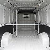ALLEGRA Ladungssicherung für PKW LKW und Transporter, Sperrstange für Anhänger Klemmstange für die Tür, Ladesicherung für Auto Ausziehbar 4 Größen (1,60m - 2,90m, Weiß)
