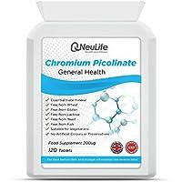 Chrome Picolinate 200ug - 120 Comprimés - Neulife Santé et Fitness
