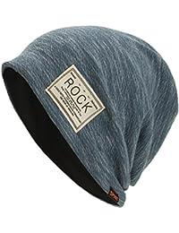 9a5533405943e Cebbay Gorros de Punto Mujer Color sólido cómodo Suave Capa Interna Suelta  Sombreros y Gorras Otoño