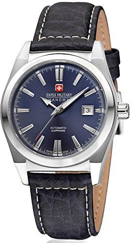 Swiss Military Hanowa Herren-Armbanduhr XL Analog Automatik Leder 05-4194.04.003