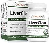 Suplemento de apoyo y limpieza del hígado LiverClear - Fórmula avanzada para la salud y la desintoxicación del hígado - Garantía de devolución del 100% del dinero - 60 cápsulas vegetales