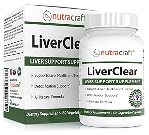 LiverClear Liver Cleanse & Support Supplement - Advanced Formula for Liver Detox and Health - 100% Money Back Guarantee - 60 Vegetable