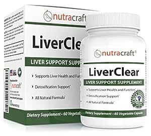 LiverClear Itegratore urificazione & Supporto del Fegato – Formula Avanzata per Detox Fegato e Salute - Garanzia 100% Soddisfatti o Rimborsati - 60 Capsule Vegetali
