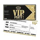 Einladungskarten Geburtstag Gold VIP | 10 Stück | Lady's Night | Inkl. Druck Ihrer Texte |Einladungen Geburtstag | Jugendweihe | Kindergeburtstag | Karte Einladung | Einladungskarte Mädchen