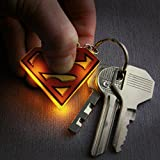 Official DC Comics Superman Logo Light Up Keyring Flashlight Torch Keychain