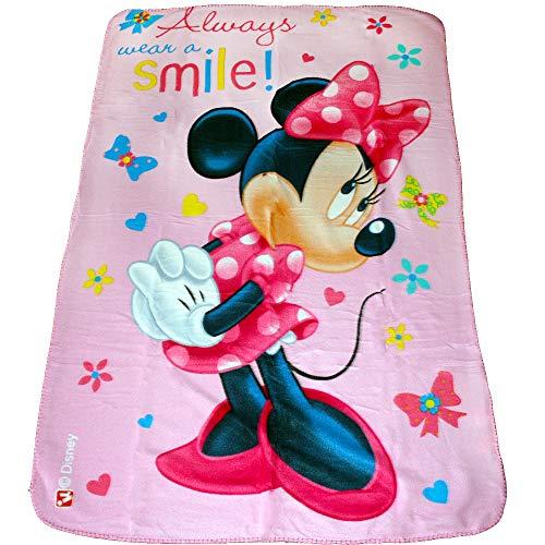 TE-Trend Disney Kinder Fleece Decke Kuscheldecke Tagesdecke Mickey Minnie Mouse Motivdecke 100x150 cm Mehrfarbig