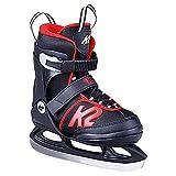 K2 Skates Jungen Joker Ice (Boy) Skates, Schwarz/Rot, 32-37 EU