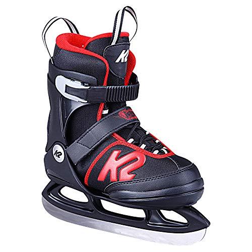 K2 Skates Jungen Joker Ice (Boy) Skates, Schwarz/Rot, 32-37 EU -