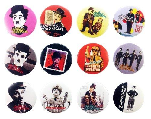 (Charlie Chaplin Awesome Qualität Viel 12New Pins Button Badge 3,2cm)