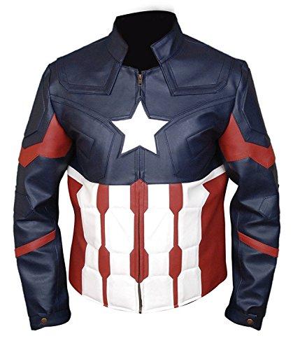 JNJ Captain America Civil War Chris Evans Costume Faux Leather Jacket