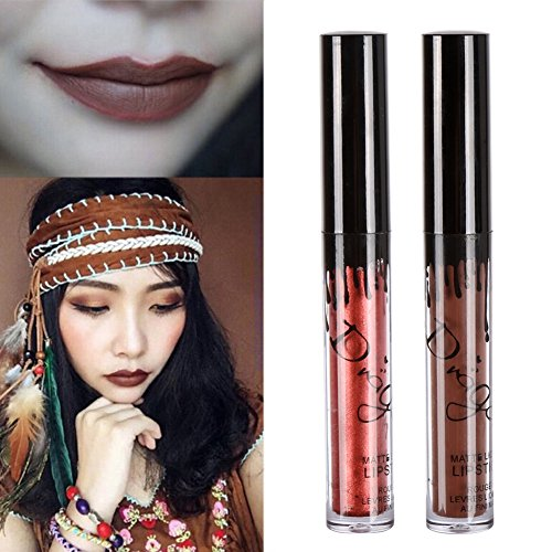 Liquid Lipstick Set,Lip Gloss Set,ROMANTIC BEAR 16 Colors Waterproof Long Lasting Durable 24 Hour Lipstick Matte Finish
