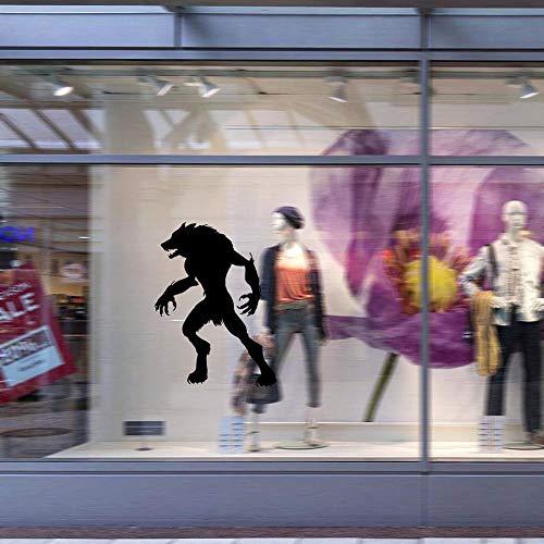 PVC entfernbares Fenster Halloween Wolverine PVC entfernbarer Fensteraufkleber Wandaufkleber 58 * 43cm