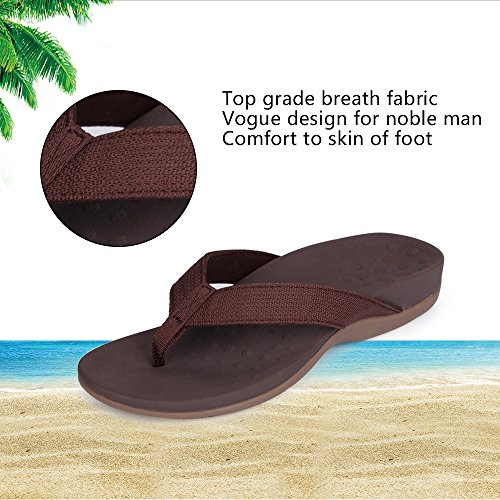 SESSOM&CO Women's Orthotic Sandals with Great Arch Support Stylish Flip Flops Sandals for Plantar Fasciitis