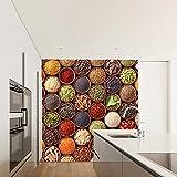 Bunte Gewürze Wandbild Essen Foto-Tapete Küche Restaurant Wohnkultur Erhältlich in 8 Größen Riesig Digital