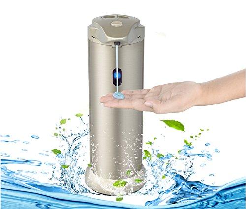 YOOSUN Automatische Seifenspender Edelstahl Touch-less Handfreie Bewegungssensor Auto Flüssigseifenspender für Küche und Bad Office Shampoo Lotion (Trocken-shampoo Kappe)