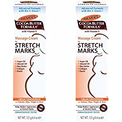 Palmer's Cocoa Butter Formula Massage Cream for Stretch Marks, 125g (Pack of 2)