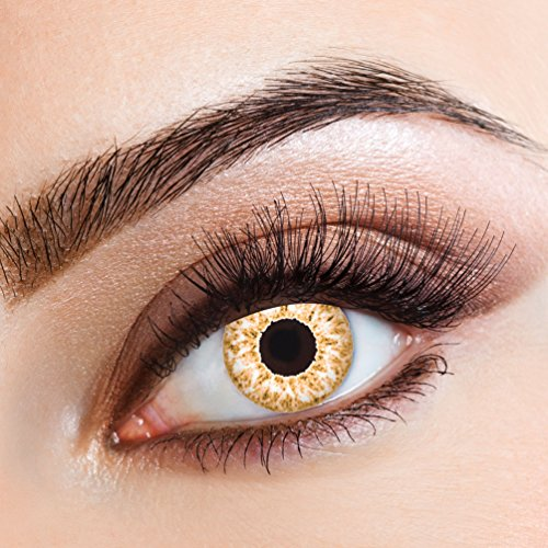 Karneval Klamotten Farblinsen Farbige Kontaktlinsen Jahreslinsen ohne Stärke Halloween (Farbe Halloween Kontakte)