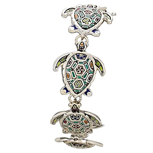 rosemarie-collections-womens-mosaic-sea-turtle-magnetic-charm-bracelet