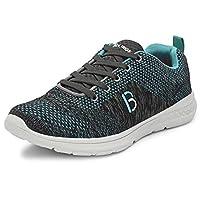 Bourge Men's Loire-4 Grey and Sea Green Running Shoes-8 UK/India (42 EU) (Loire-4-Grey-08)