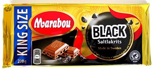 10 x MARABOU BLACK SALTLAKRITS SALZLAKRITZ SCHOKOLADE 220g (Lakritze Schokolade)