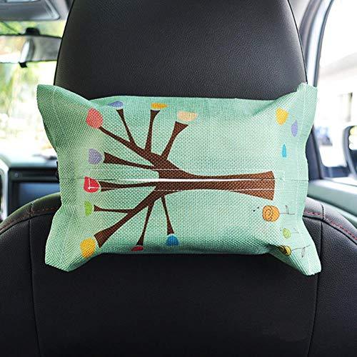 BYBAY Cartoon Auto Tissue Box Sitzlehne Hängenden Aufbewahrungstisch Home Container Handtuch Serviette Papiere Tasche Halter Box Fall Beutel, Baum (Hängende Papier-handtuch-halter)