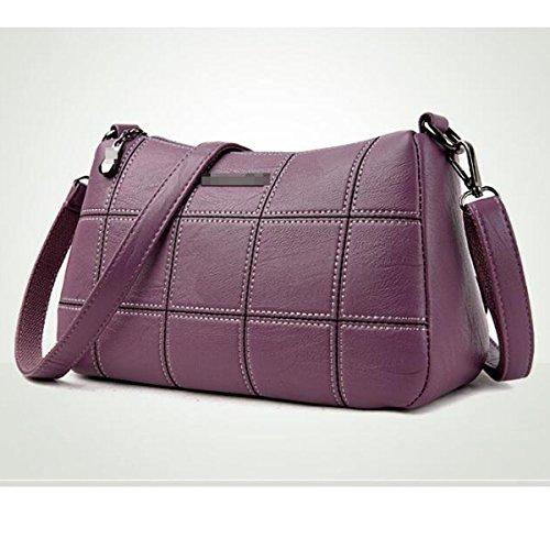 Borsa A Tracolla In Pelle Borsa A Tracolla Di Lattice Di Modo Delle Donne. Multicolore Purple