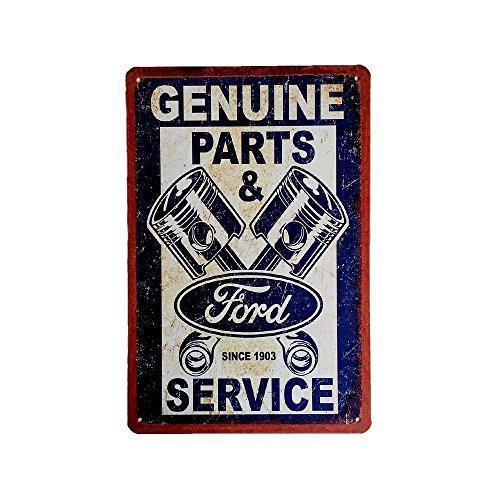 Cartel de chapa vintage Decoración, Letrero A4 Estilo Antiguo de metálico Retro - Genuine Ford Parts