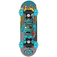 Xootz Childs Mini Skateboard - 17 Inch (Blue Robot)