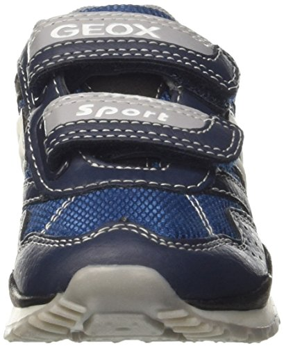 Geox - J Pavel A, Sneaker basse Bambino Blu (Navy/greyc0661)