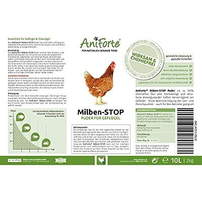 AniForte Milben-Stop Puder 2 kg inkl. Puderflasche - Naturprodukt für Hühner von Görges Naturprodukte GmbH bei Du und dein Garten