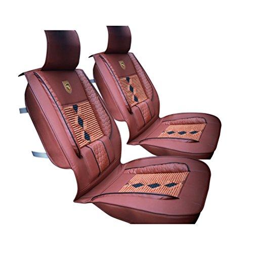 WINOMO 1 Stück Leder Auto Sitzbezüge für Vordersitz (Braun)