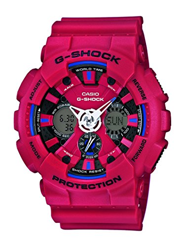 ga 1000 4aer Casio Herren Analog-Digital Quarz Uhr mit Resin Armband GA-120TR-4AER