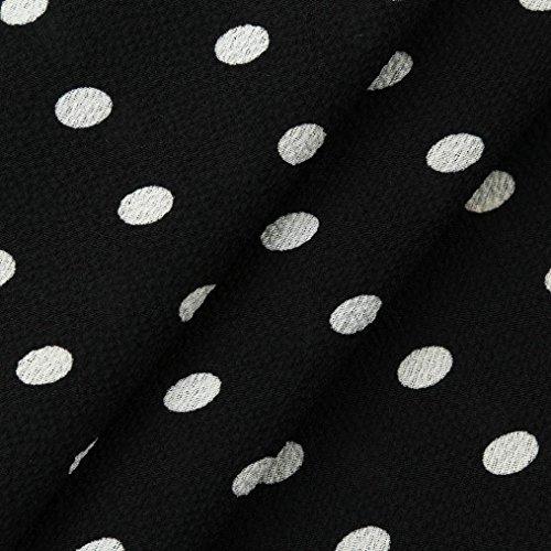 New Bell Manches Lâche Polka Dot Chemise Femmes Casual Blouse Tops Noir