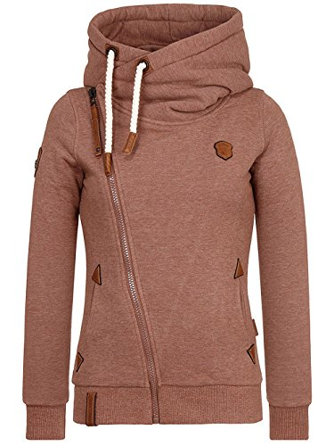 Naketano Family Biz VIII Hoodie Anthracite Melange brown melange
