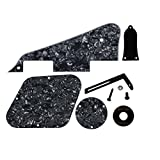 IKN 1 Set Pickguard/Cavity/Switch Covers/Pickup Selector Platte/Halterung/Truss Rod Cover/Schrauben für LP Gitarren Style, 4-Ply Black Pearl