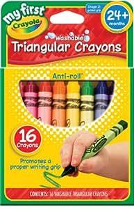 Mon premier Crayola Crayons de couleur triangulaires lavable 16/Pkg-