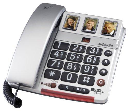 Audioline Big Tel 68 plus Gross- und Fototasten Telefon mit Anrufbeantworter