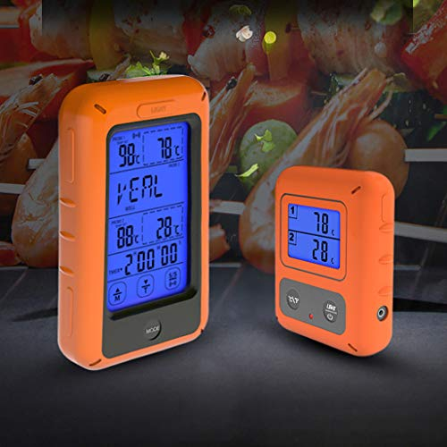 ToDIDAF Household Food Double-Fork Kitchen Thermometer, Digital Display Thermometer, with 2 Probes, for Kitchen, Cooking, Oven, Barbeque, BBQ