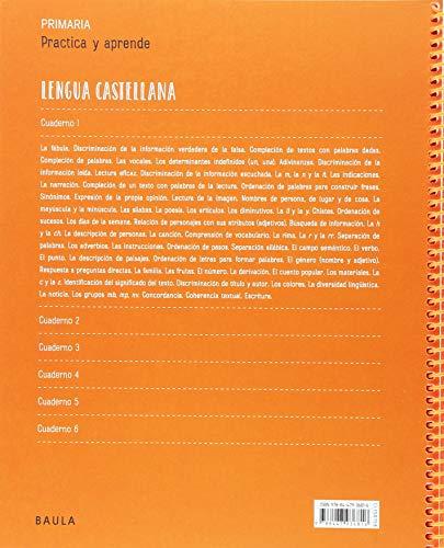 Practica y aprende Lengua castellana 1 Primaria (Projecte Dimensions i competències)