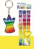 """Gottes Segen zur ersten heiligen Kommunion: Glückwunschkarte mit Schlüsselanhänger """"Engel"""""""