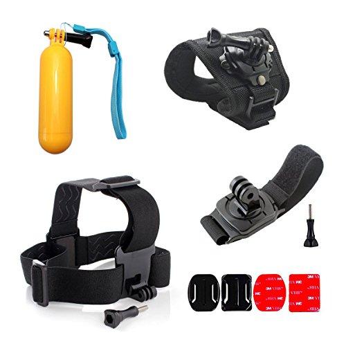 rikuzo Wasser Sport-Zubehör-Kit für GoPro, sind: Kopf Gurt + Handschlaufe + Handschlaufe + Floating Hand Grip +-, damit Ihr Kamera-Shoot besser unter Wasser Sport Bedingungen, Let 's Eine bessere - Fg Tech