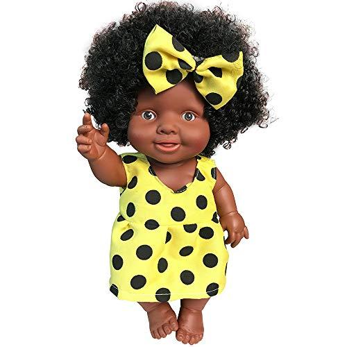 Oliviavan-Puppe Dress up Spiel Baby Nette Frisur des afrikanischen Puppenspielzeugs Kindheit-Partner-Puppe Super süße Dolls/Weich Silikon Vinyl