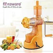 Floraware Plastic Fruit and Vegetable Juicer With Vacuum Locking System Orange